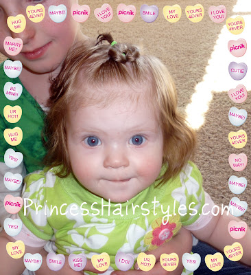 infant girl heart hair