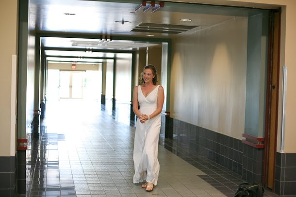 John and Ellie share a First Look at the Milwaukee Transit Center before their wedding