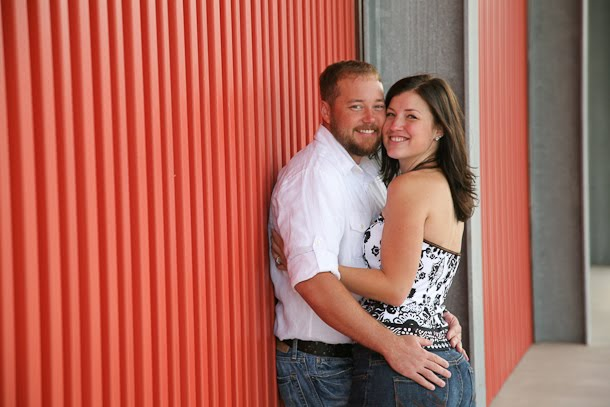 Chris and Andrea hugging for engagement session