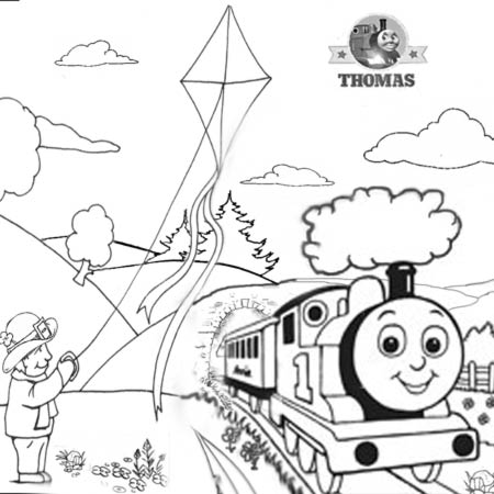 Thomas the Train coloring page | Free Printable Coloring Pages | 450x450