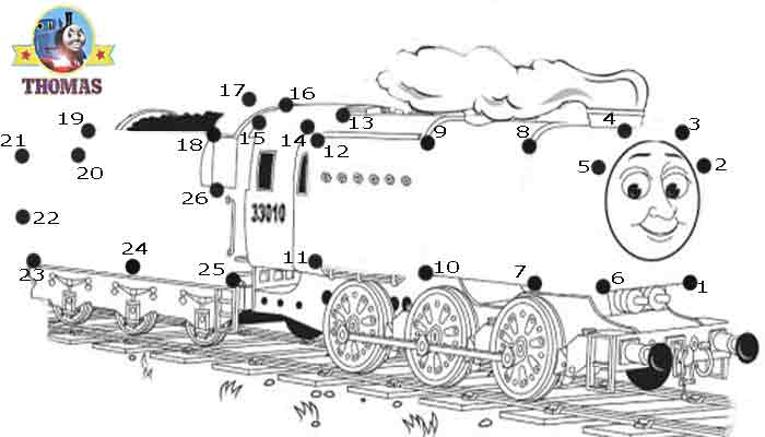 Play Online Game Puzzle Thomas The Train Dot To Dot For