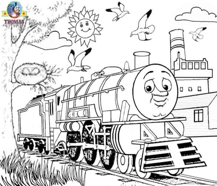 Paint Tank Thomas Colouring Pages For Kids Print And Colour Train - Colour-in-pictures-for-kids