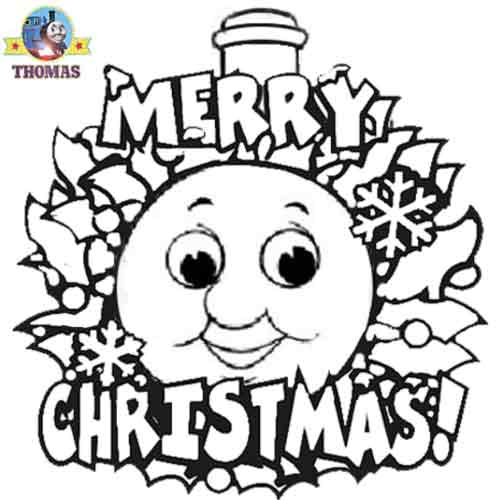 The Christmas Train coloring page. | Train coloring pages, Free ... | 500x500