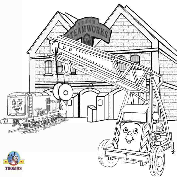 Thomas the train coloring pages for kids Printable