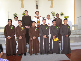 Newly professed friars