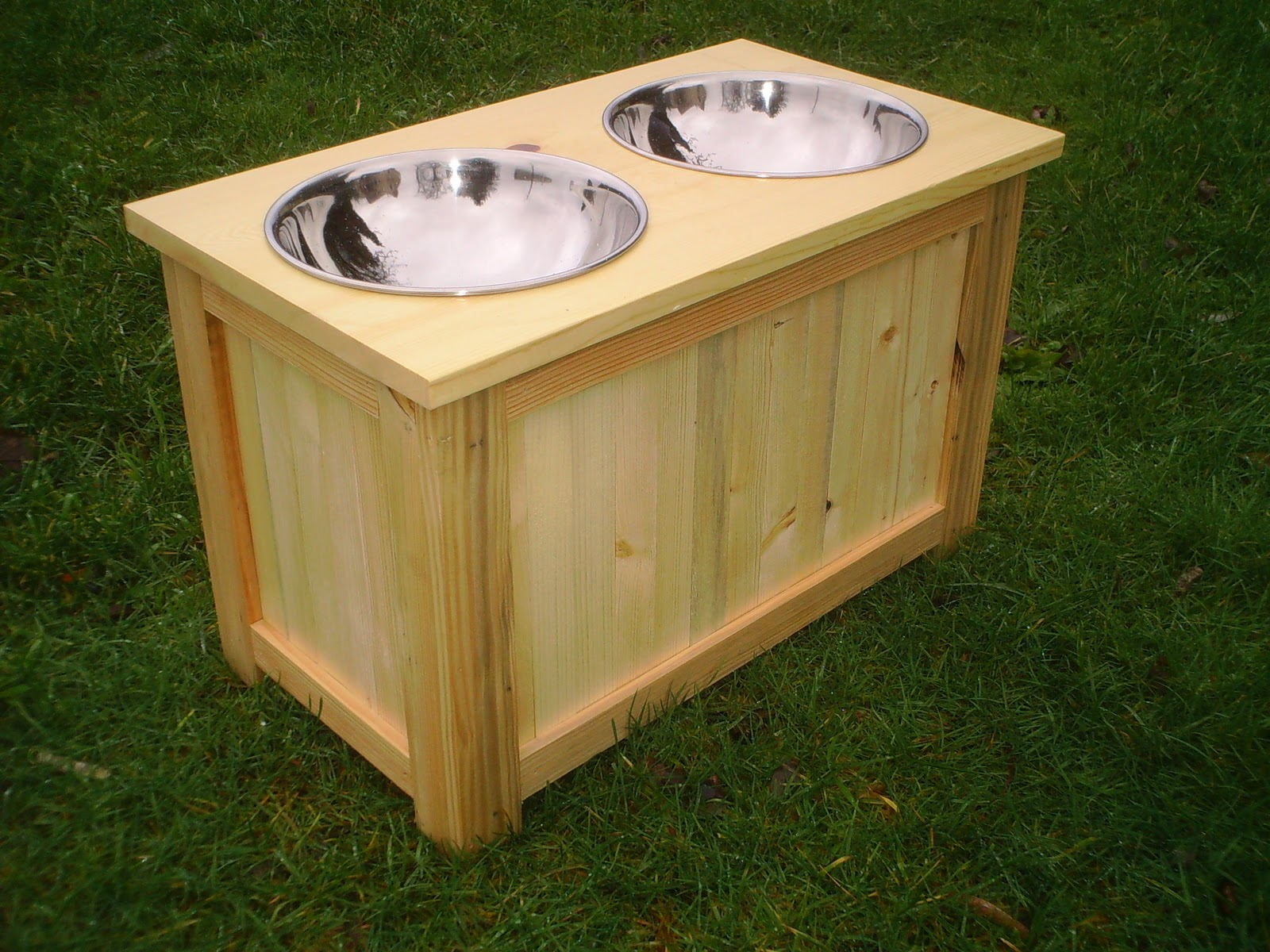 Filliqvist Elevated Dog Feeder With Bowls And Food Storage