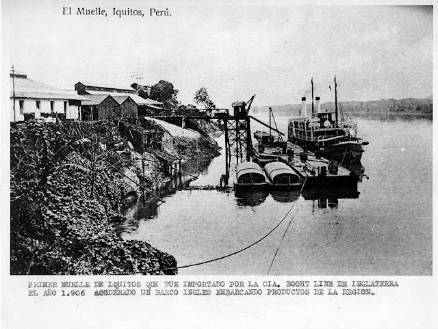First dock in Iquitos - 1906. Built by Booth Shipping Lines.