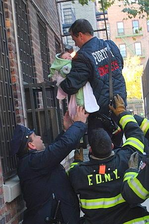 Ev Grieve Infant Rescued In Ageloff Towers Fire