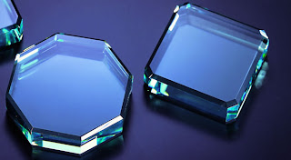 octagonal square paperweights