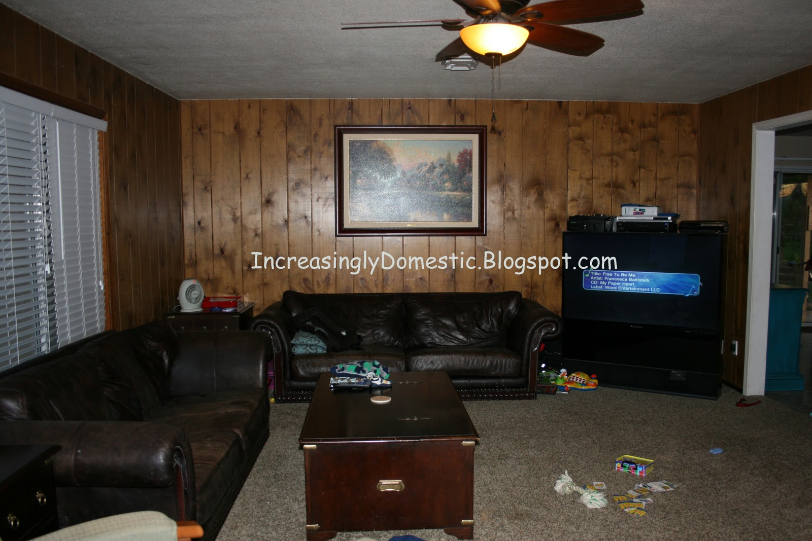 increasingly domestic painting wood paneling. Black Bedroom Furniture Sets. Home Design Ideas