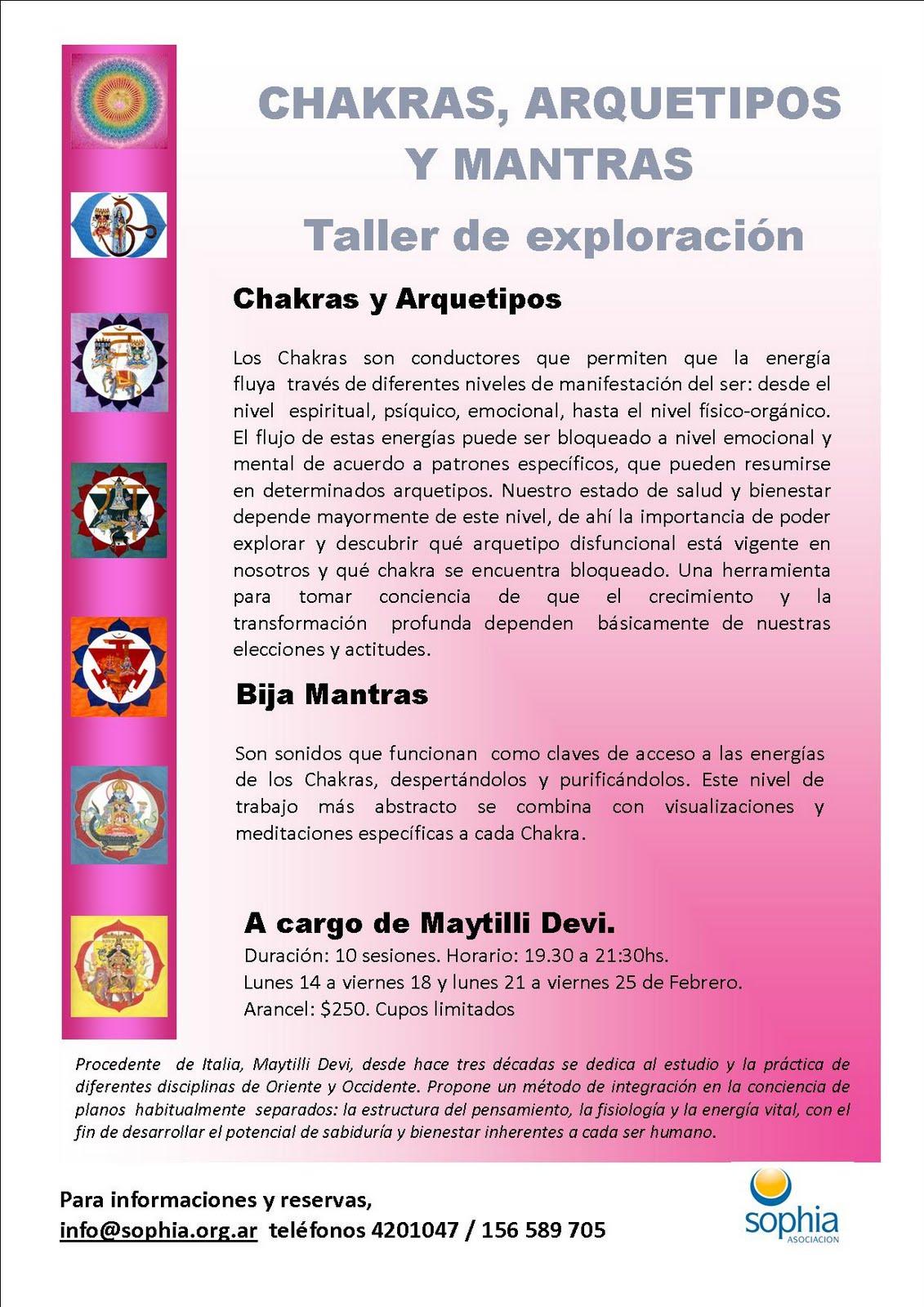 Maytilli Devi: Taller: Chakras, Arquetipos y Mantras