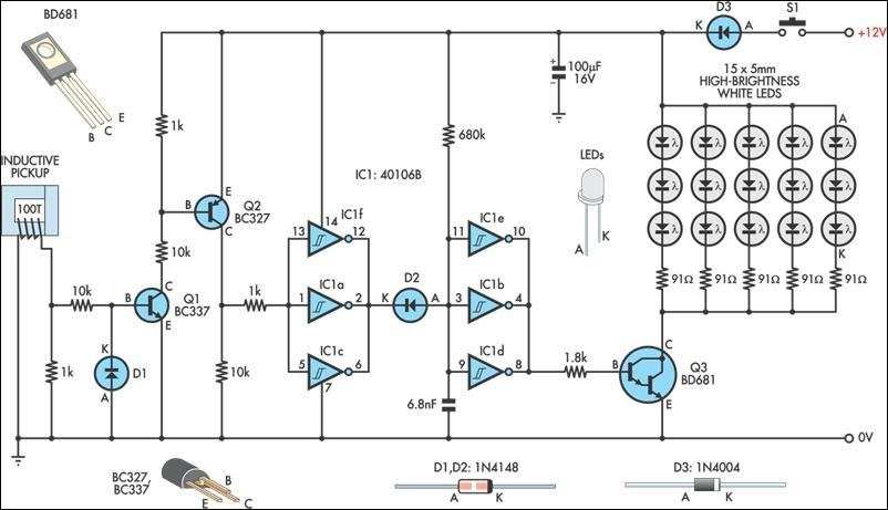 automotive led timing light circuit schematic