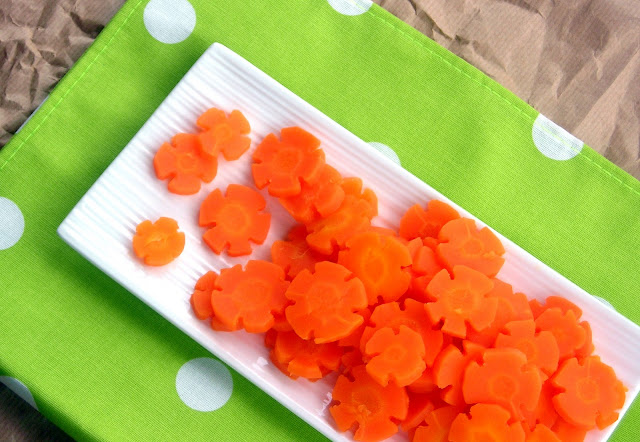 Steamed Carrot flowers