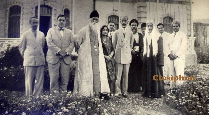 King Faisal of Iraq and King Ali with Dr. Rabindranath Tagore - Baghdad
