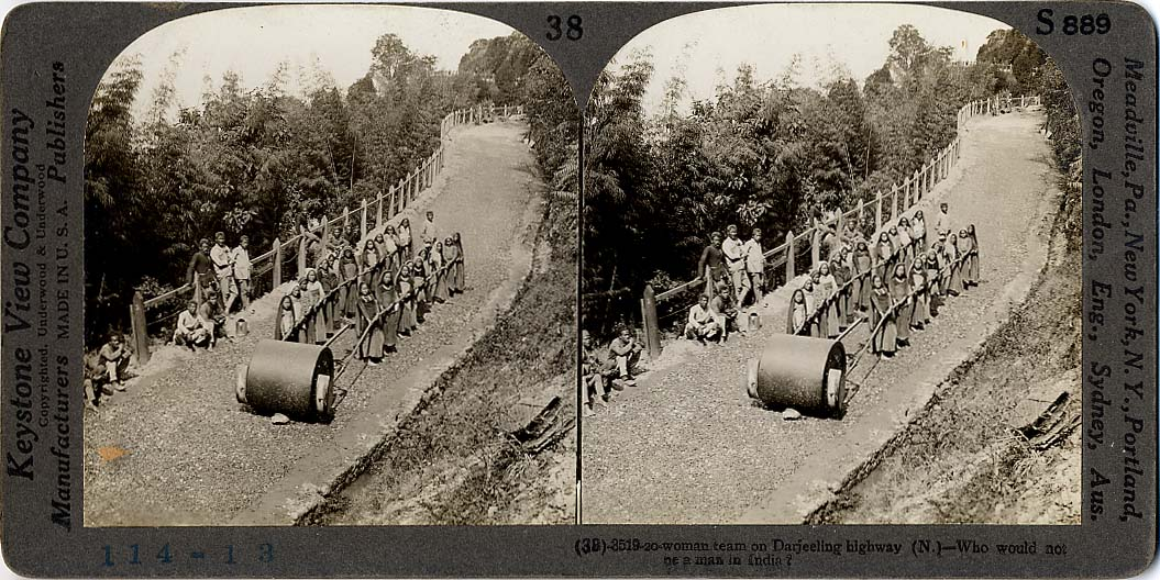 Women are working on Darjeeling highway - 1900's