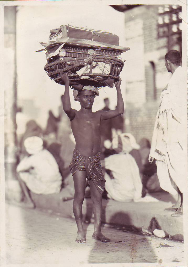 A Coolie, Calcutta, a photo from c. the 1920's