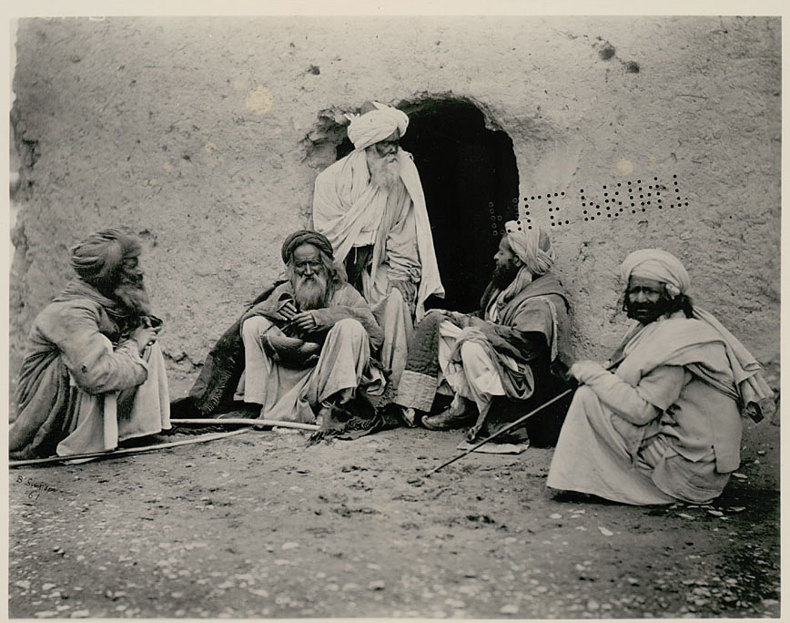 Group of Fakirs in Costume - Afganistan 1880