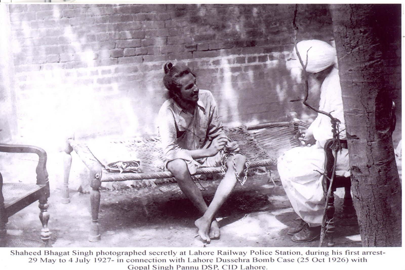 Shaheed Bhagat Singh Photographed Secretly at Lahore ...