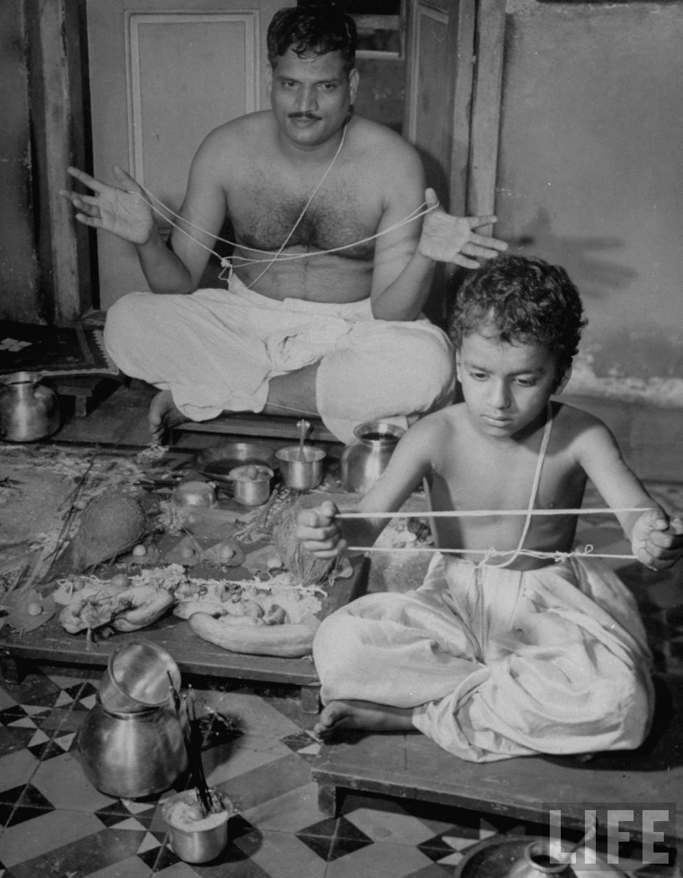 Brahmin Man and his son