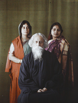 Colour Photo of Rabindranath Tagore from Albert Kahn Collection