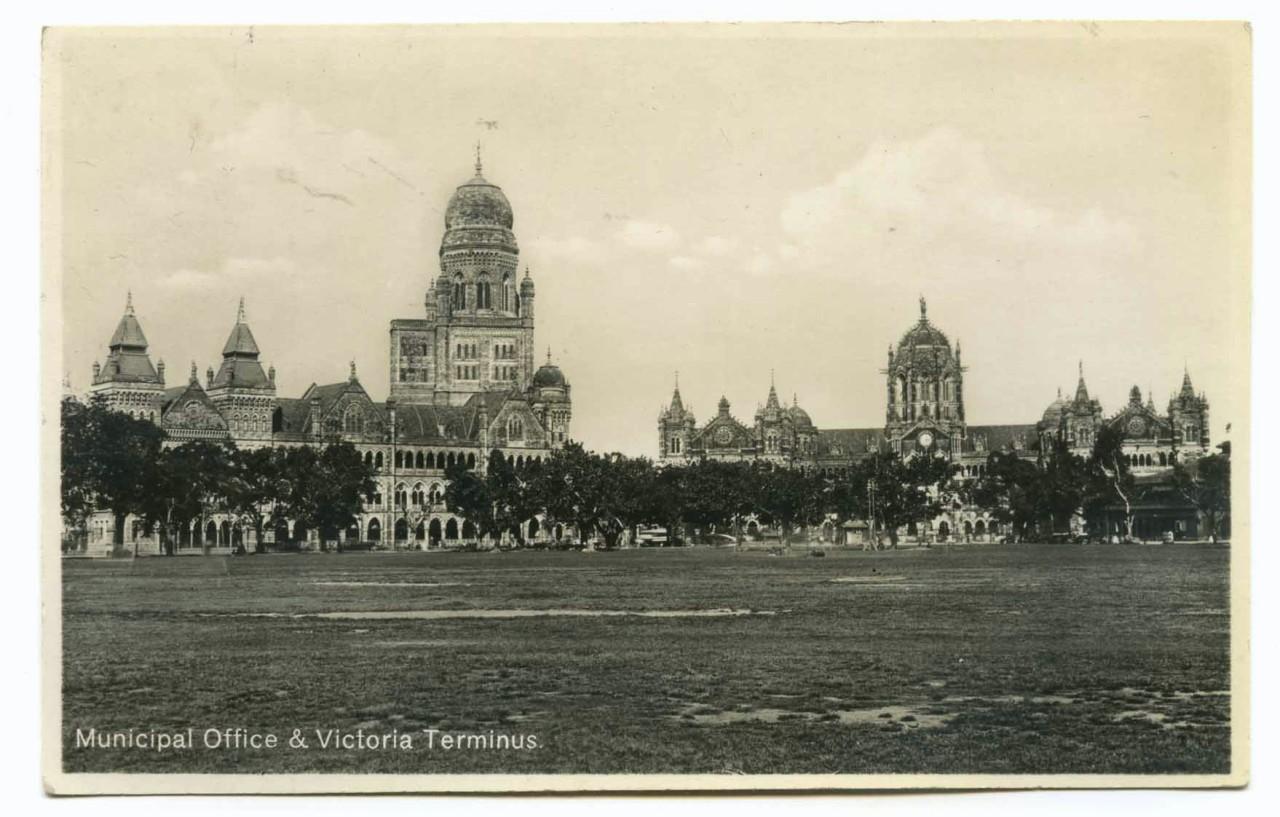 Vintage Postcard - Municipal Office & Victoria Terminus - Bombay (Mumbai)