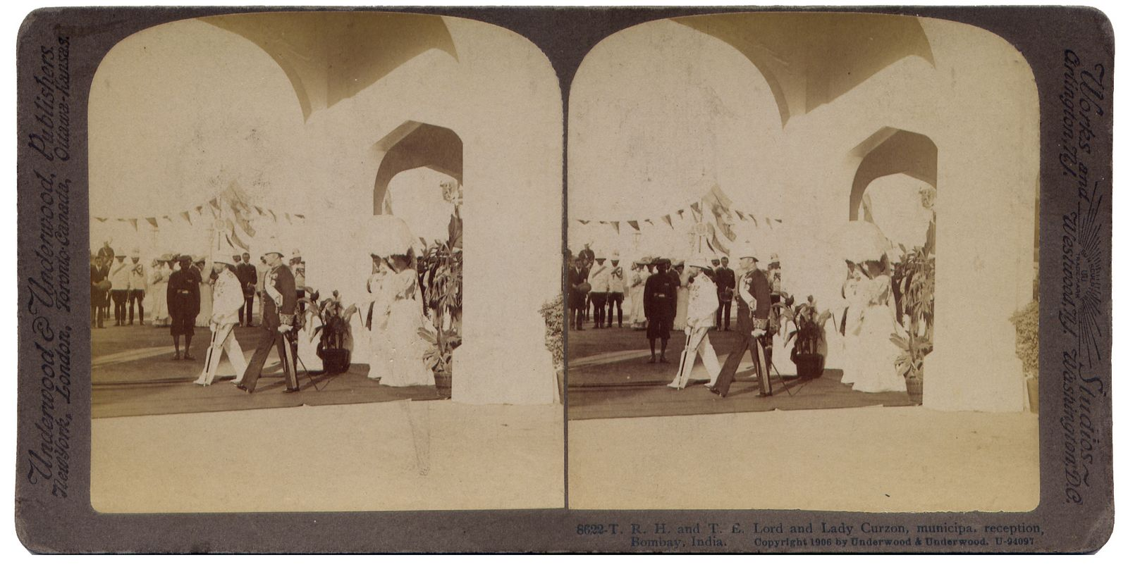 Lord and Lady Curzon, municipa. reception Bombay India