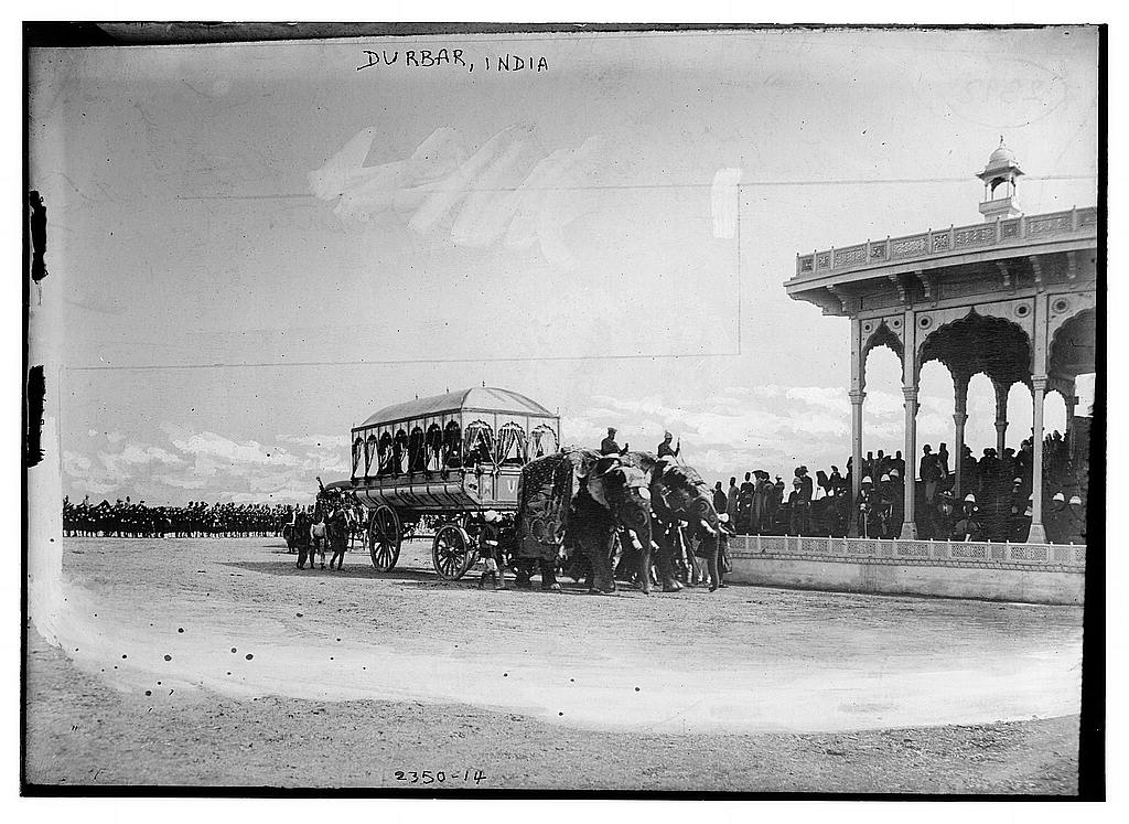 Photo shows carriage of H.H. the Maharaja of Rewah, Delhi Durbar held by Lord Curzon in honor of the coronation of Edward VII - 1903