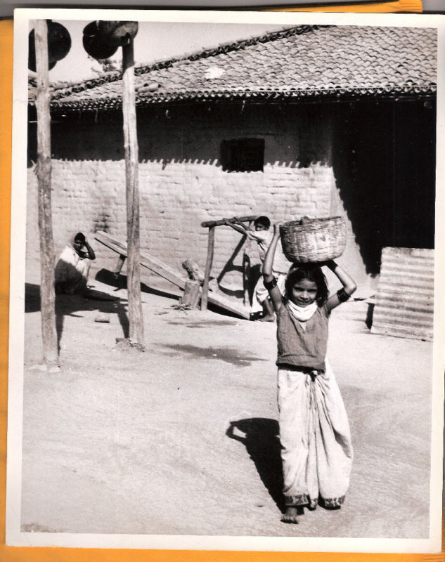 A girl in the village of Bachhai, India - 1955