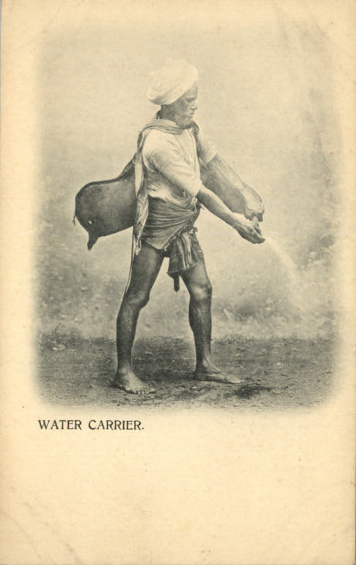 Indian Water Carrier  - 1905 Postcard
