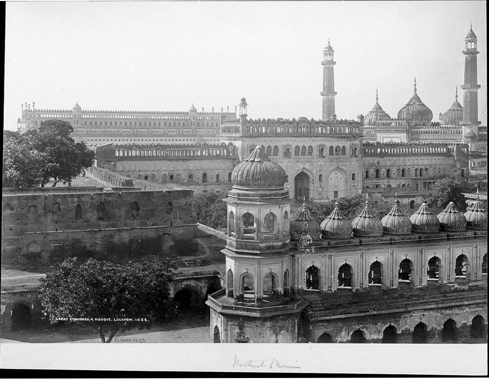 View of Great Imambara and Jama Masjid Mosque Lucknow - Samuel Bourne 1863