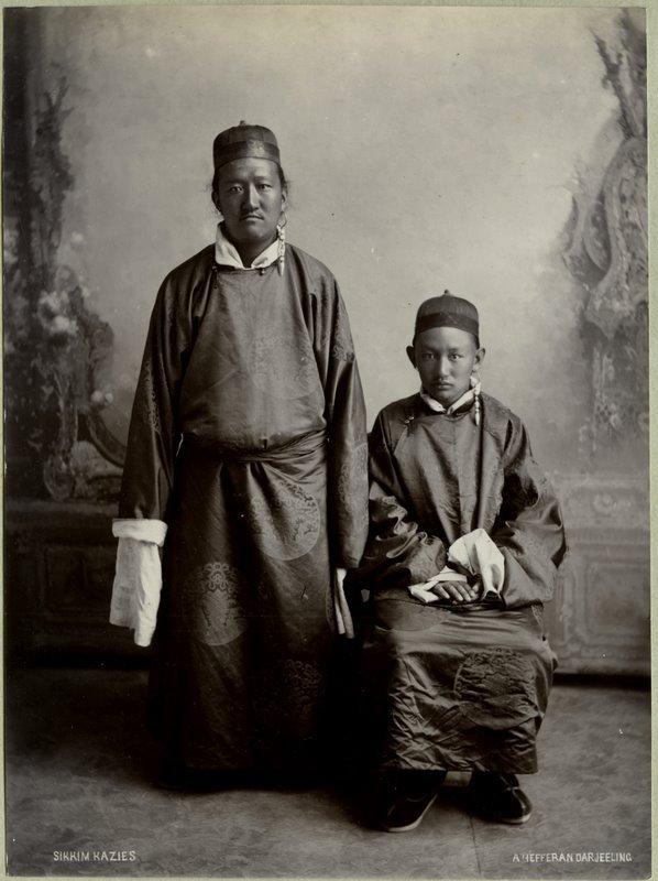 Studio Photograph of Sikkim Kazies -  India 1880's