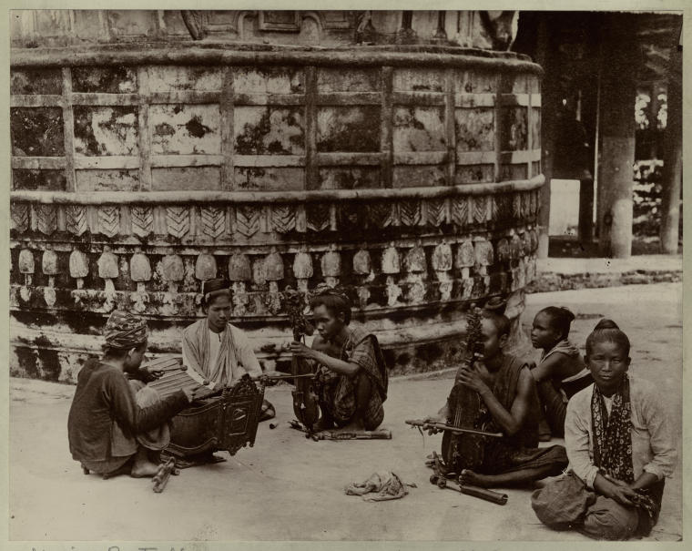 Indian Musicians Playing Violins - 1898