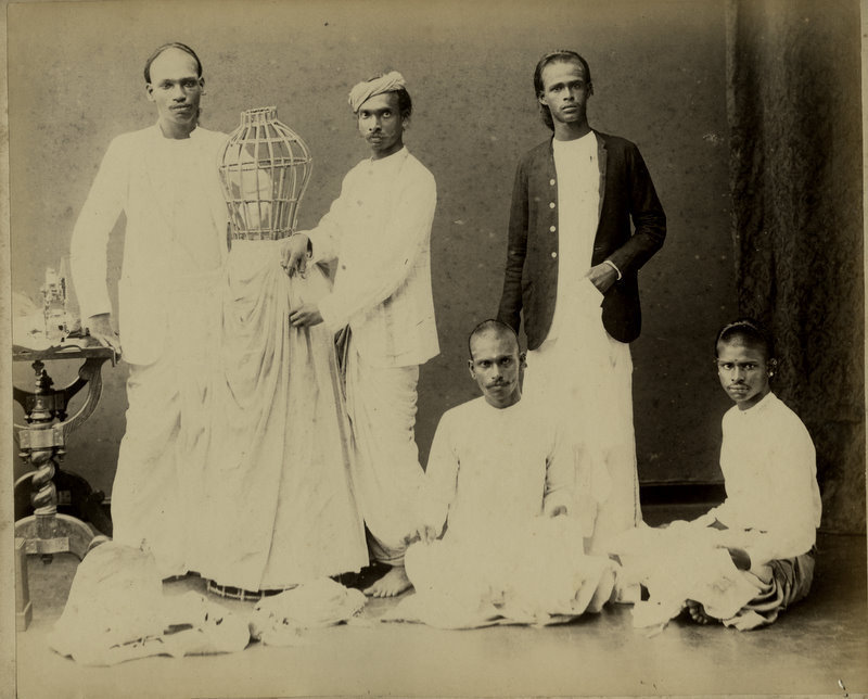 Group of Men with a Cage - Sri Lanka 1890s
