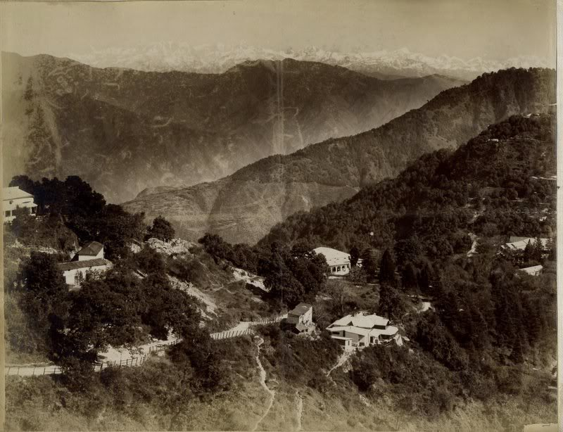 Landscape of Mussorie - Himalaya India -  1880s