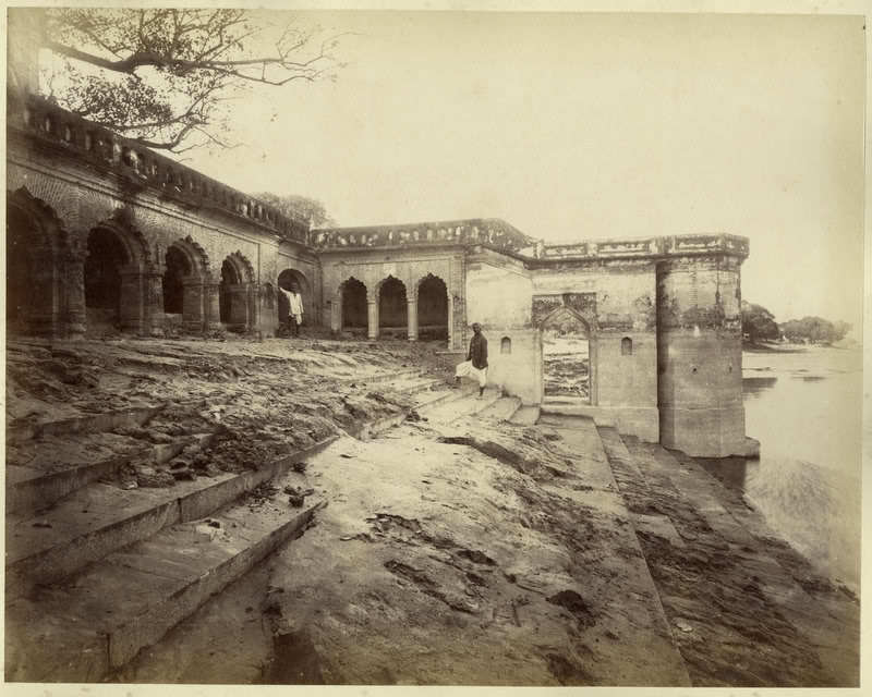 Massacre Ghat or Sati Chaura Ghat Cawnpore (Kanpur) - India 1880s