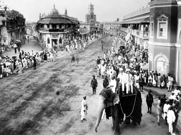 Nizam's procession in Old Hyderabad, taken in 1880s