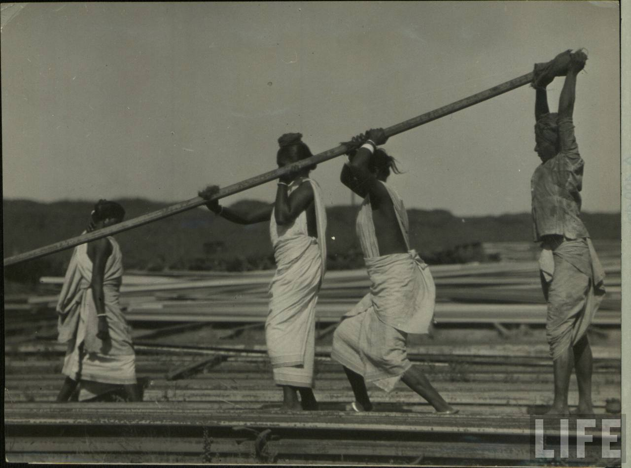 Indian Labour - One Man and Three Women