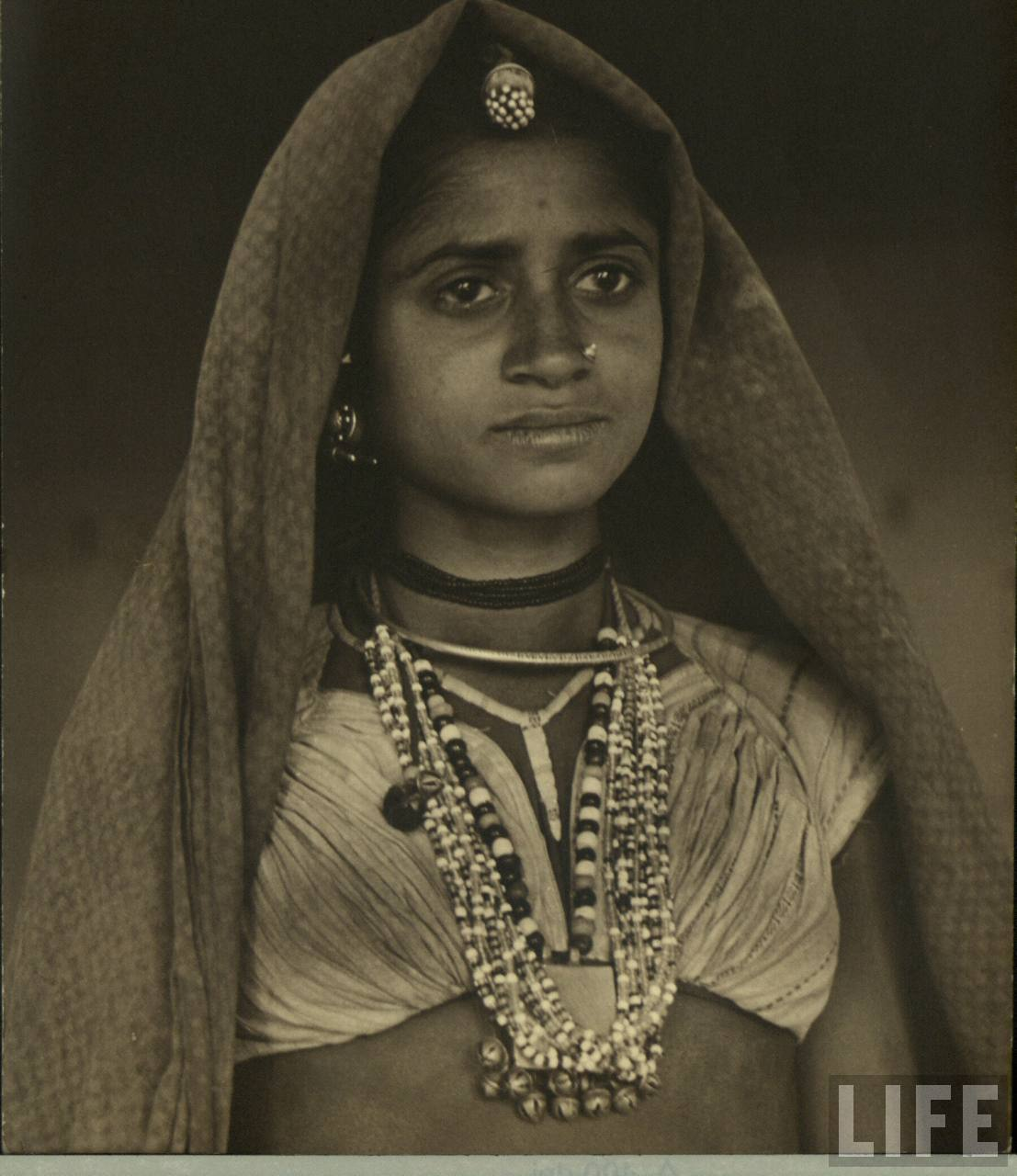 Portrait of an Indian Village Woman