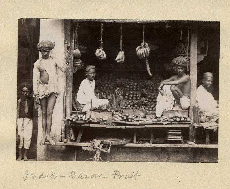 Fruit Shop in an Indian Bazaar - 1880's