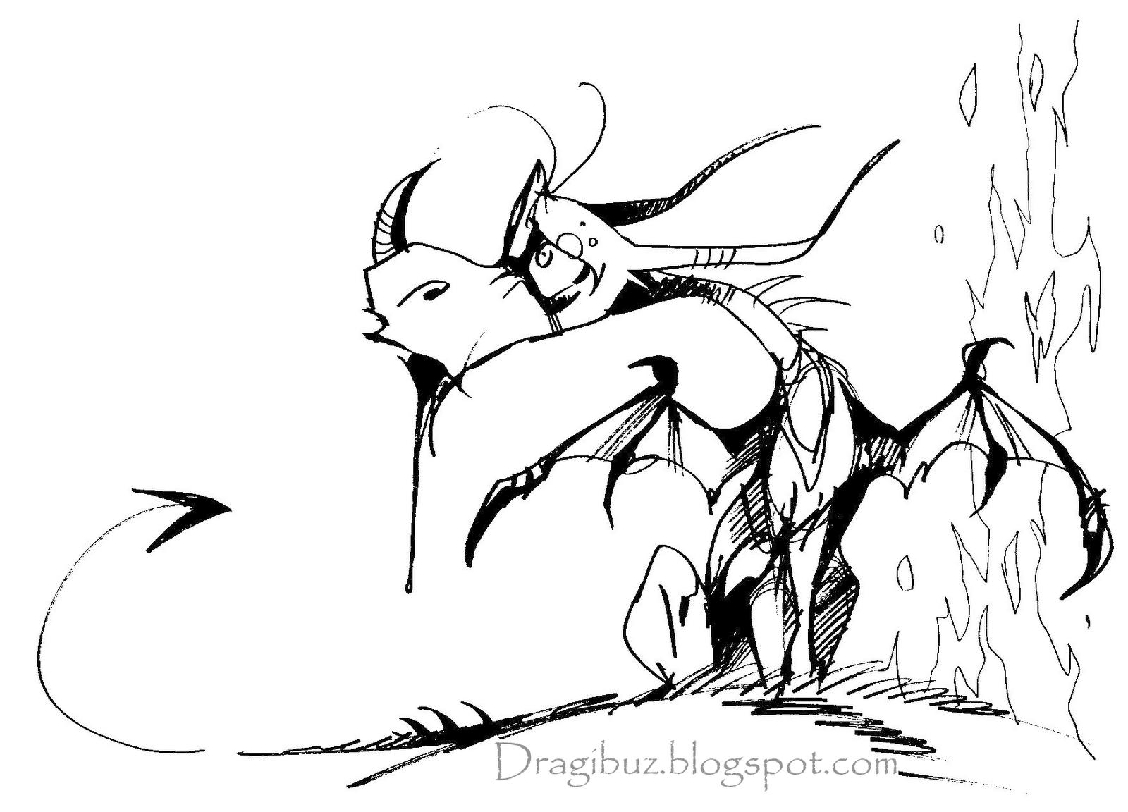 Tatouage Dragon Noir Et Blanc
