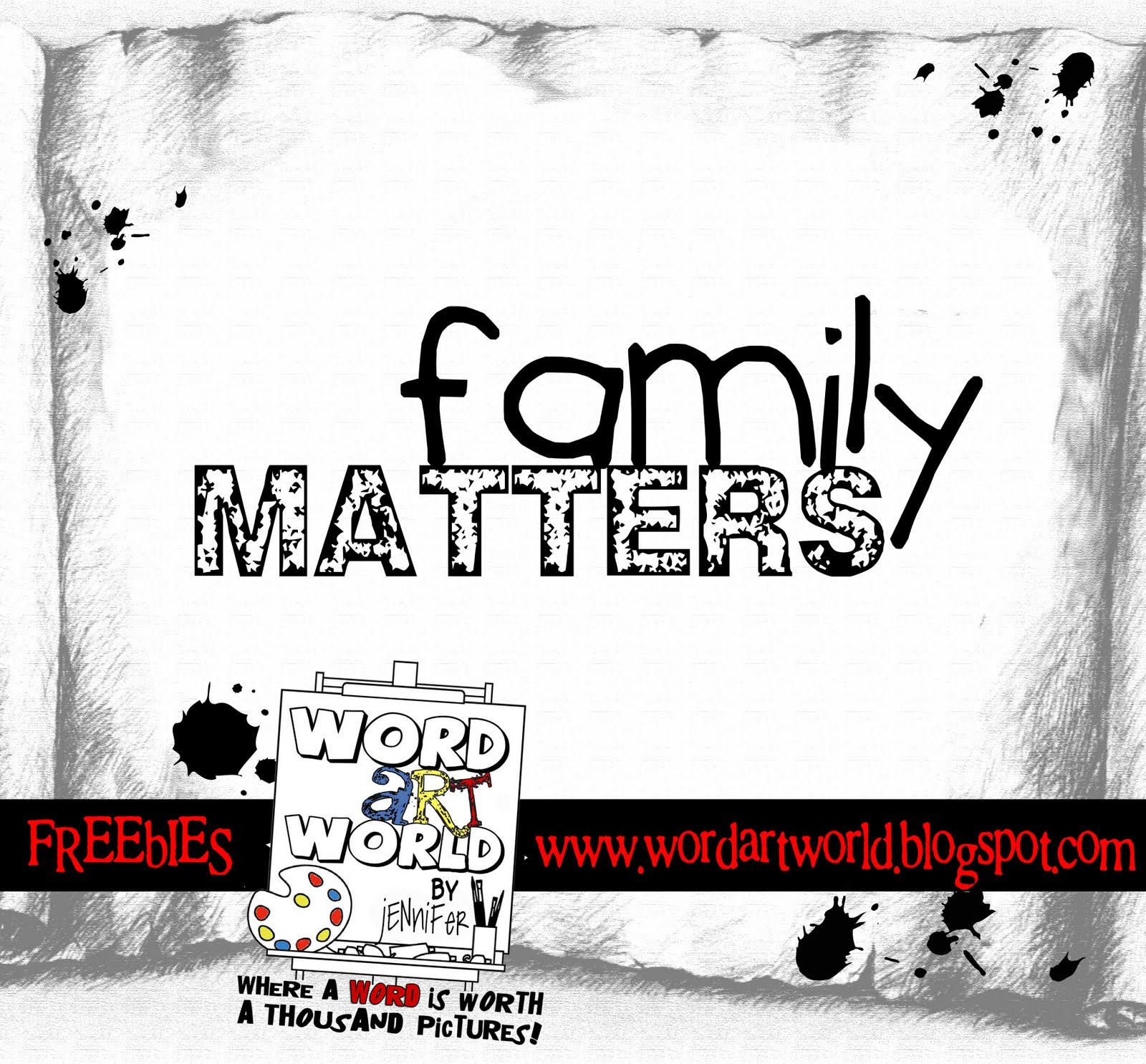 Word Art World: Family Matters