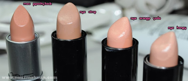 makeupaholic on a budget: Product Comparison: MAC peachstock to NYX