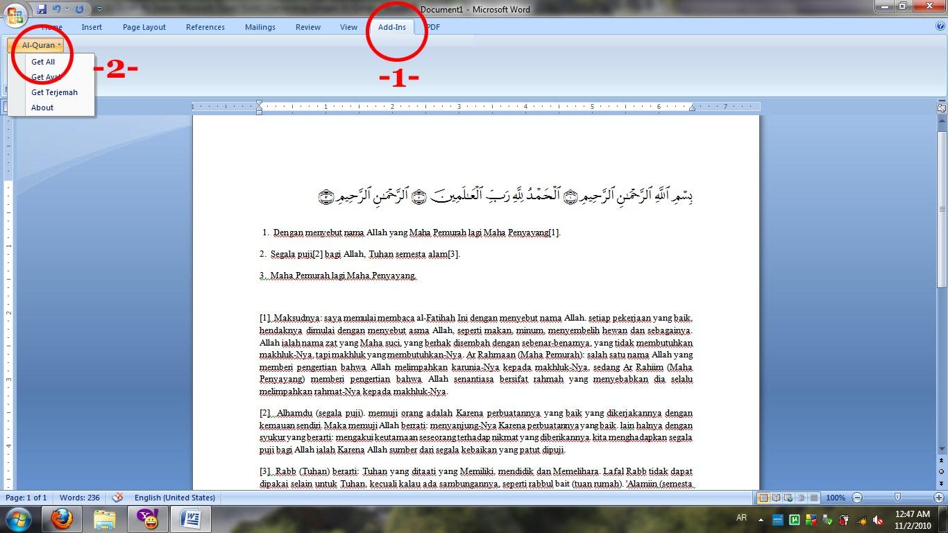 Almansuqie Tips Tutorial Blog Memasukkan Quran Dalam Powerpoint