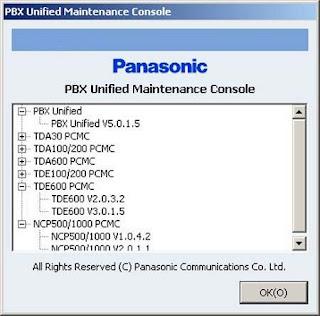 manual panasonic pbx unified maintenance console