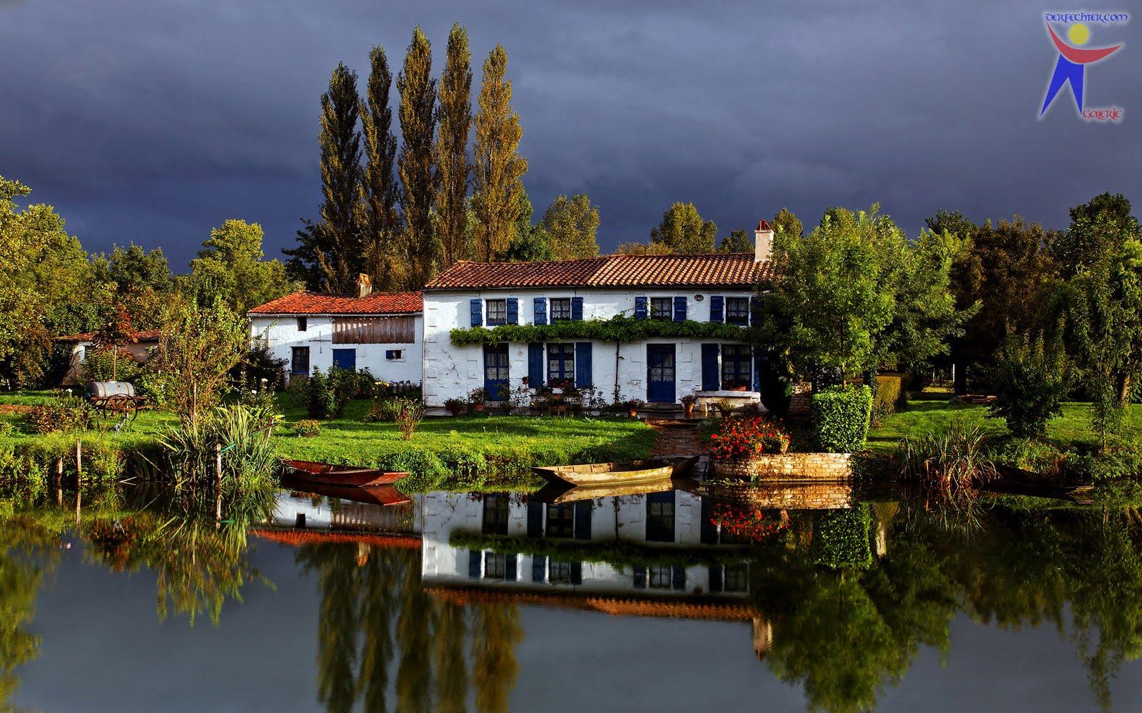 DerFechter: Wolkenschein + Haus am See
