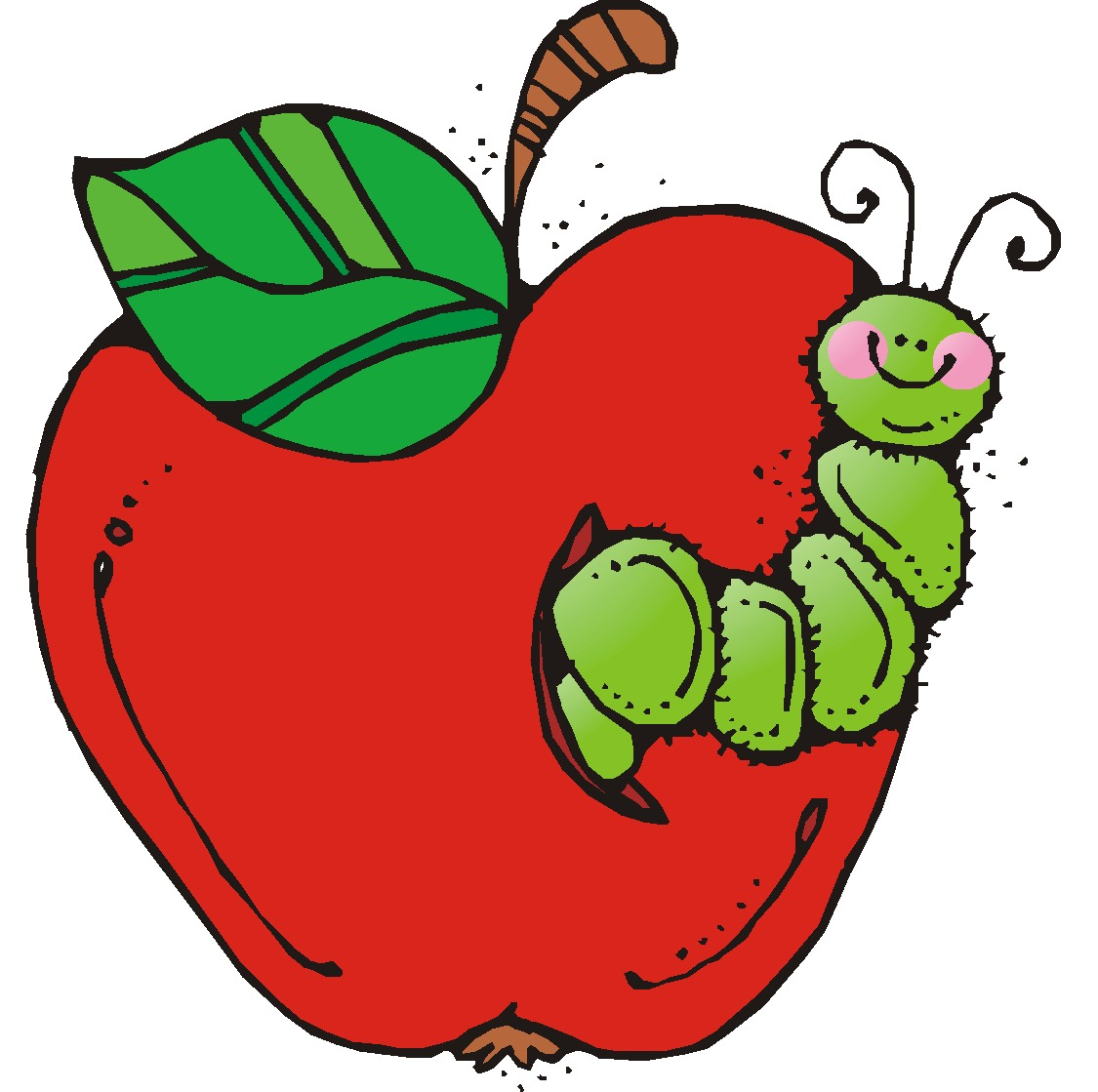 clipart apple worm - photo #2