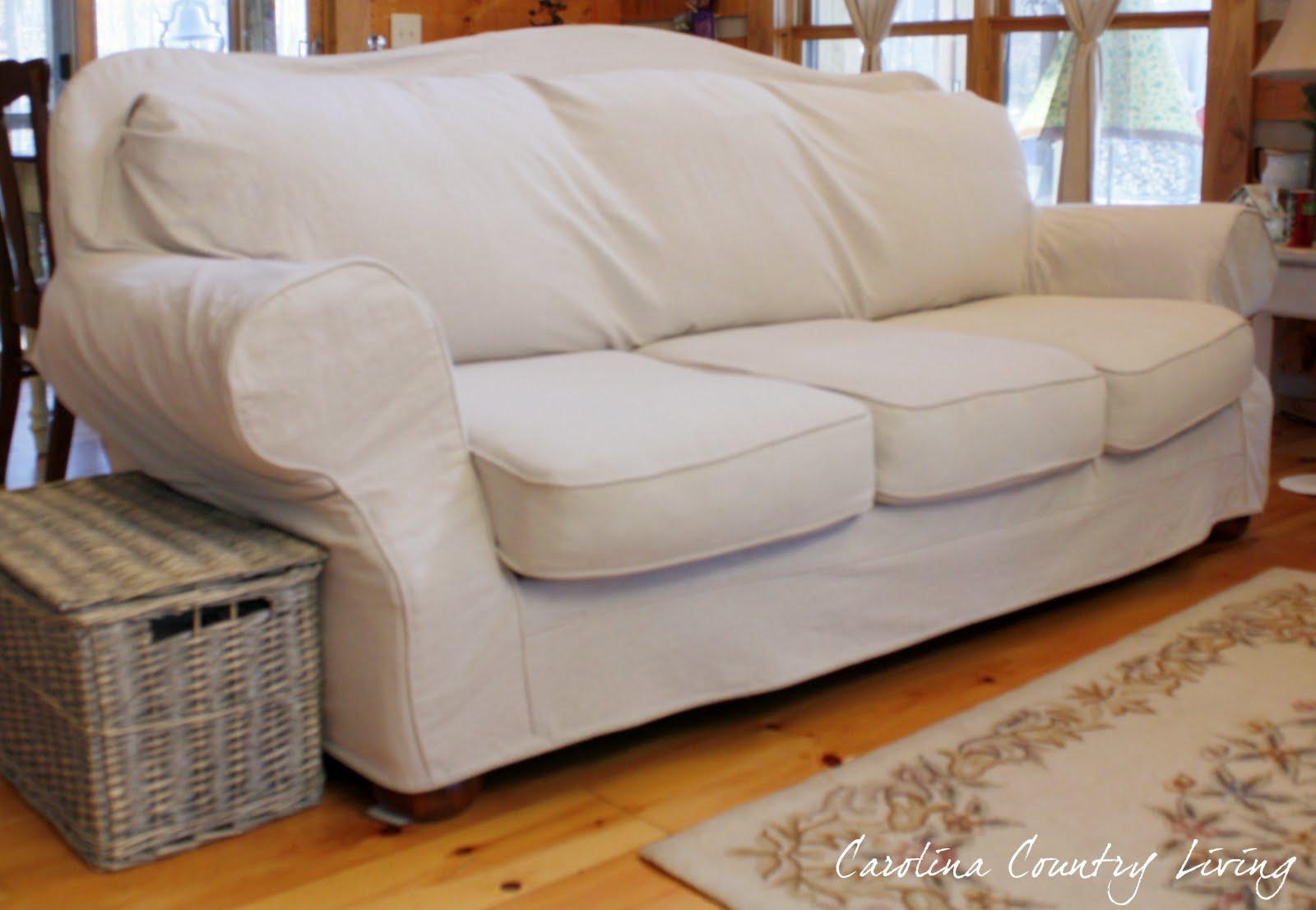 Carolina Country Living Drop Cloth Sofa Slipcover