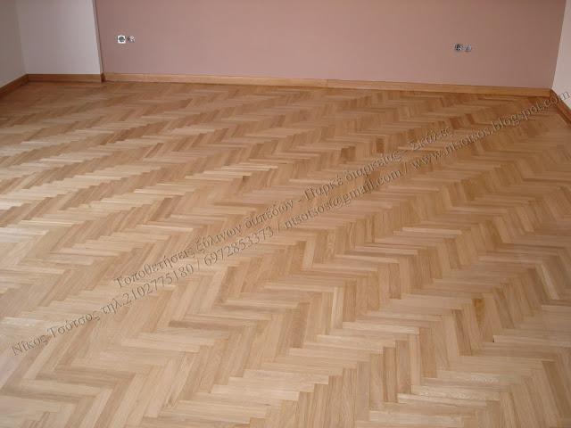 Συντήρηση ξύλινου δαπέδου με ματ οικολογικό βερνίκι