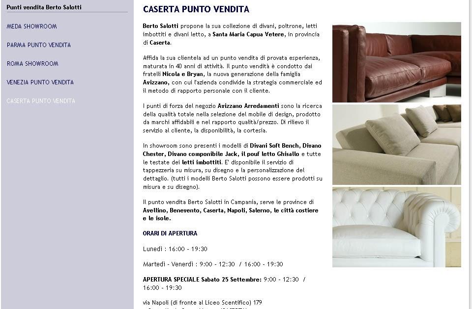 Berto Salotti Blog: In Campania! Berto Salotti inzia una nuova ...