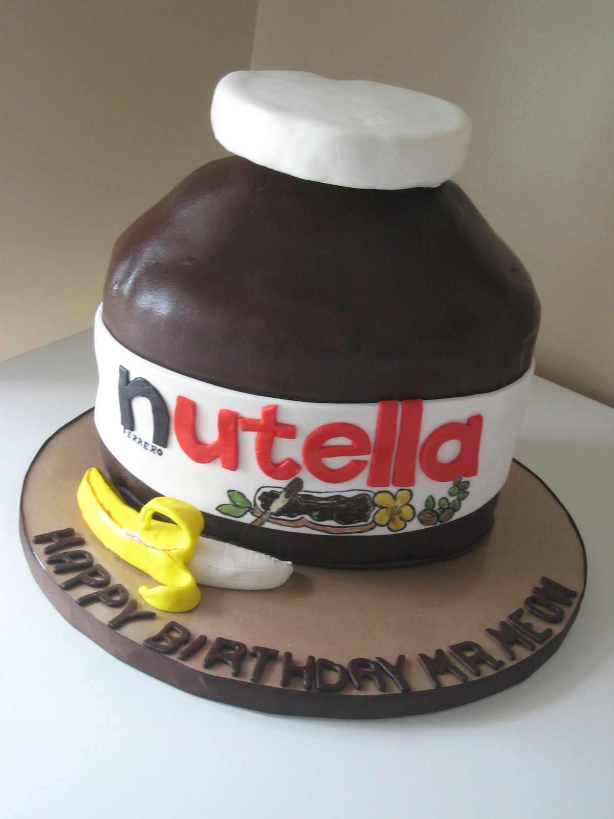 Vanilla Cake With Nutella Filling